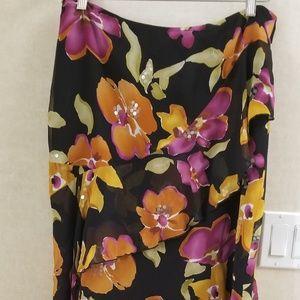 Jones New York 14 petite skirt layered floral